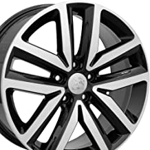 Partsynergy Replacement For Fits 2005-2017 VW Jetta - VW27 Black Machined 18x7.5 Aluminum Wheel