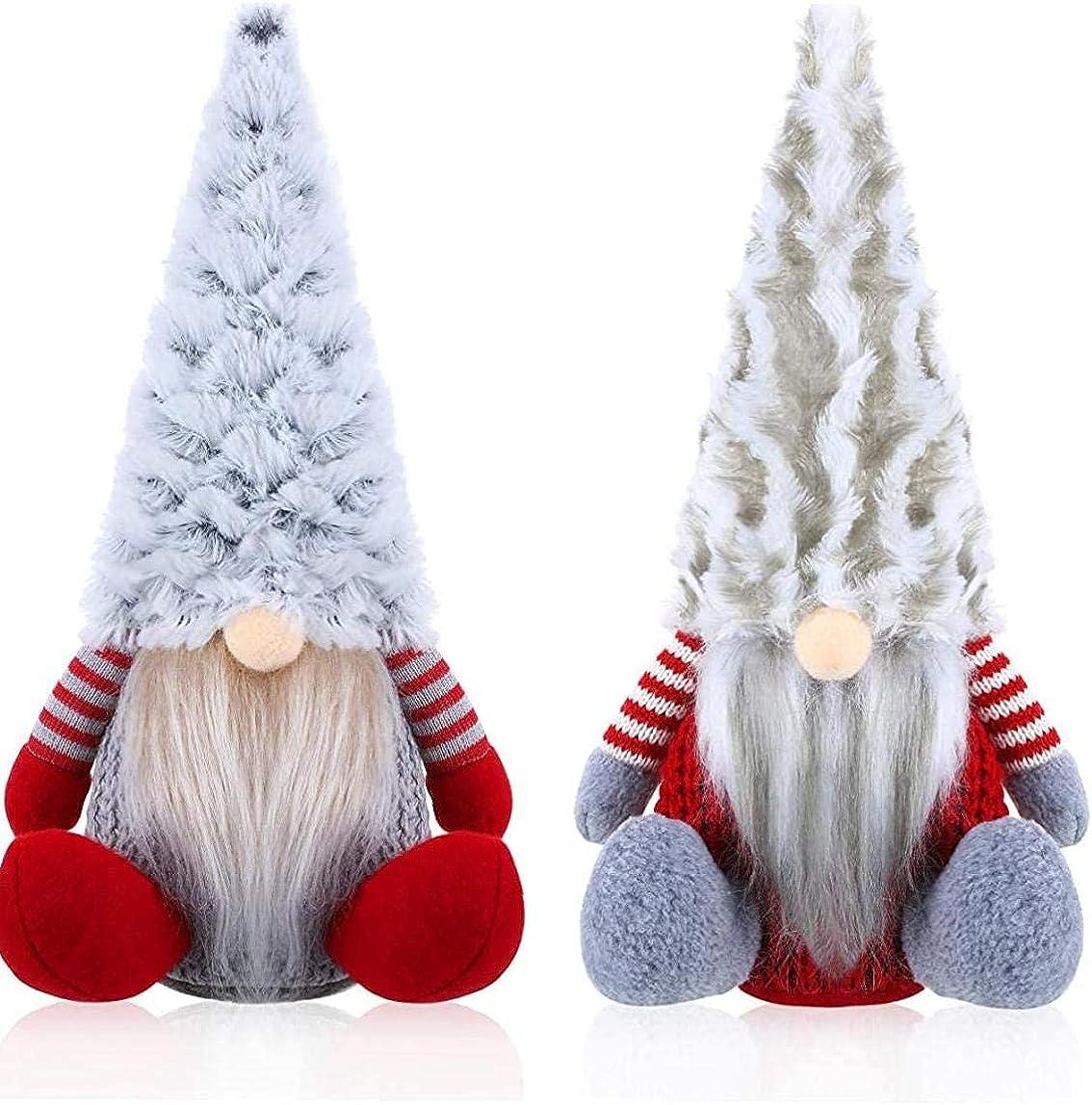 Max 62% 2021 OFF ASDPIHNK Christmas Gonk 2 Pieces Si Gnome Santa Plush