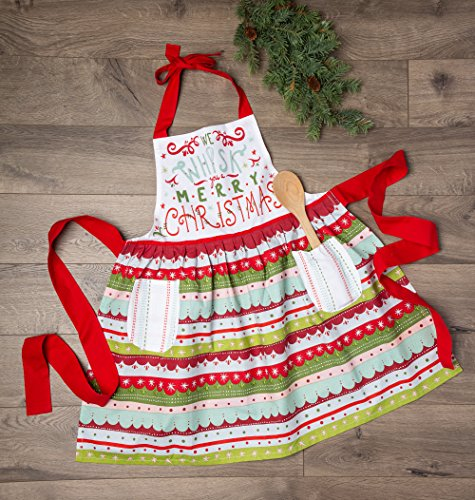 DII Holiday Kitchen Apron, One Size, Whisk You A Merry Christmas