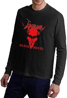 Male Long-Sleeve T-Shirt Venom Band Logo Patterns Classic Shirt Top Black