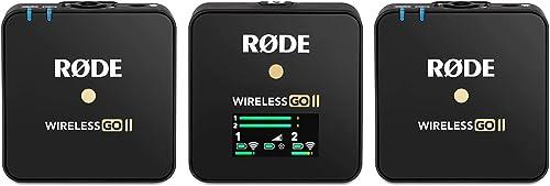 Micro RODE Microphones Wireless GO II 698813007110 Micro-cravate Type de transmission (détails):USB avec sacoche, avec