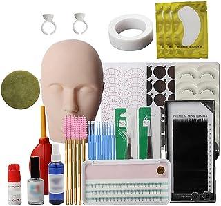 Wimpers Extension Praktijk Tool Set, Mannequin Training Hoofd, Make-up Eye Lashes Train Model Graft Kits voor Professional...