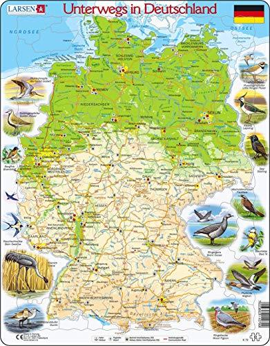 Larsen K72 Viajar en Alemania, edición en Alemán, Puzzle de Marco con 91 Piezas