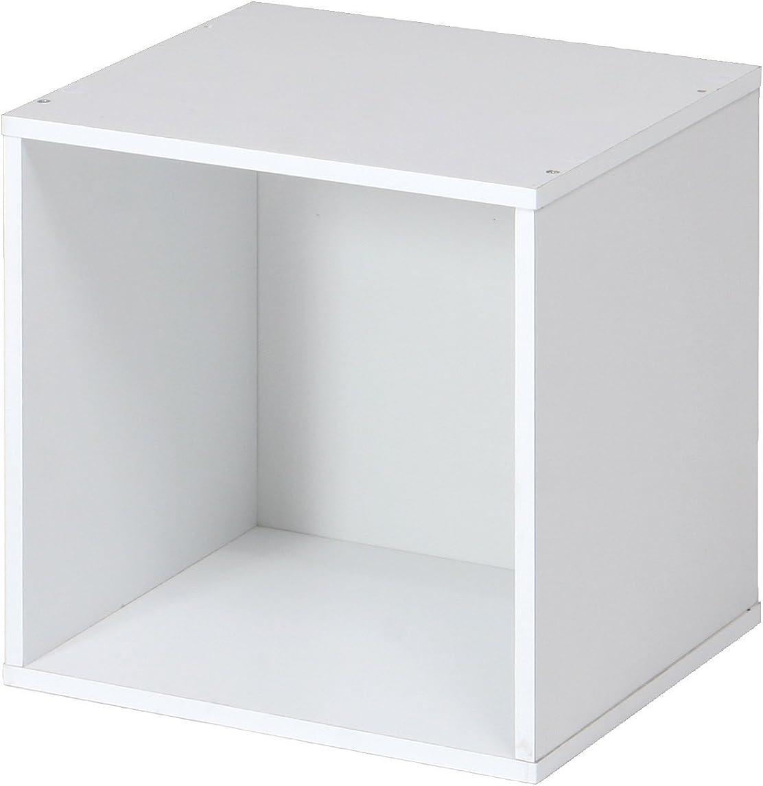 地震サンドイッチニックネーム『 キューブボックス-オープンタイプ(背板付) 』【IT】【tm】ホワイト(#9870273) 幅34.5×高さ34.5×奥行29.5cm