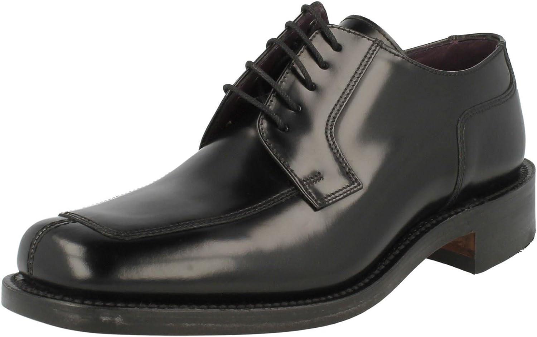 Mens Loake svart svart svart Poleshed Leather Lace Up skor1303B UK 6.5  kundens första rykte först