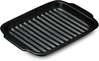 CtoC JAPAN グリルパン 取っ手付き 約17x24cm 直火対応 電子レンジ対応 オーブン対応 グリル陶板 55-16742