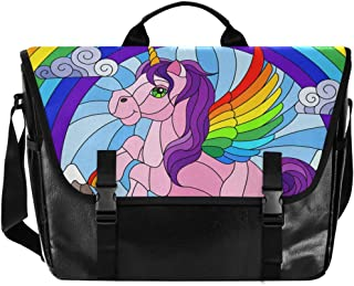 Classical Art Animal Horse Lona Cartero Bolso Unisex 15.6 pulgadas Ordenador Retro Satchel, Business Cuaderno, Bolso de ho...