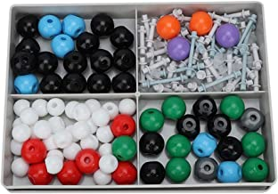Suministros de educaci/ón cient/ífica Hongzer Kit de Modelo Molecular de 382 Piezas Kit de Estructura inorg/ánica org/ánica Molecular Atom Key Link Model Set para Estudiante Maestro