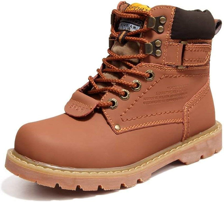 Fuxitoggo Herren Martin Stiefel sind Casual und britischen Stil High-Top-Baumwoll-Stiefel mit Volltonfarbe (Farbe   Gold, Gre   43 EU) (Farbe   Hellbraun, Gre   41 EU)