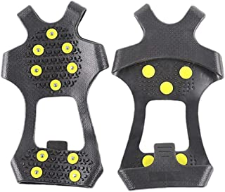 Perfeclan 1 Pair Crampons Overshoes Non-slip Anti-ice For Snow And