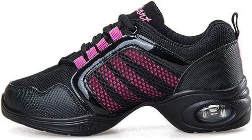 YAN zapatos de mujer de Malla Transpirable zapatos de Baile Aumentar los zapatos de Baile de Fondo Suave Jazz Moderno Calle zapatos de Baile,A,37