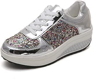 Moda Donna Paillettes Glitter Lacci Moda Scarpe Comfort Scarpe Da Ginnastica Athletic