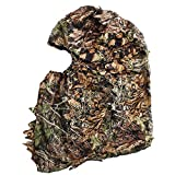 ACAMPTAR Cagoule de Masque de Visage 3D Feuillu de Chasse de Camouflage Chapeau Camo de Coiffures de Pêche de Chasse Extérieur