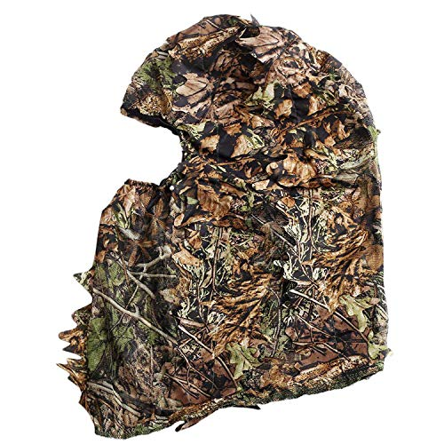 TOOGOO Tarnung Jagd Belaubten 3D Gesichtsmaske Kapuze im Freien Jagd Angeln Kopfbedeckungen Camo Hut