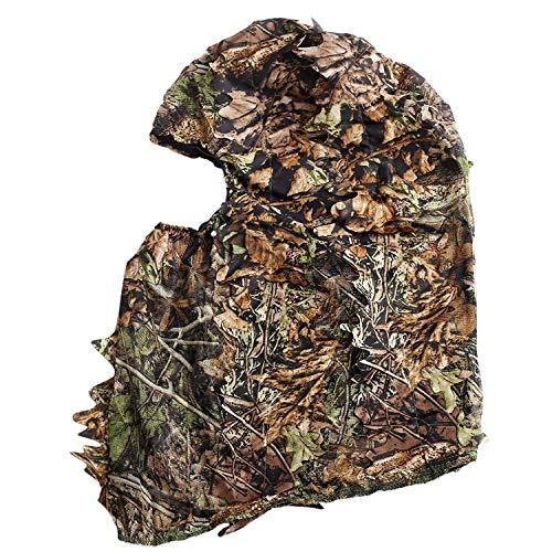 Dasorende Tarnung Jagd Belaubten 3D Gesichtsmaske Kapuze im Freien Jagd Angeln Kopfbedeckungen Camo Hut