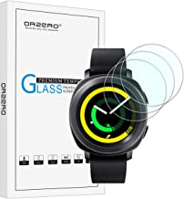 (3 Pack) Orzero for Samsung Gear Sport, Gear S2 Smart Watch (Upgraded Version) Tempered Glass Screen Protector, 2.5D Arc Edges 9 Hardness HD Anti-Scratch (Lifetime Replacement Warranty)