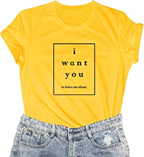 LOOKFACE Women Funny Graphic T Shirt Cute Short Sleeve Tees Tops