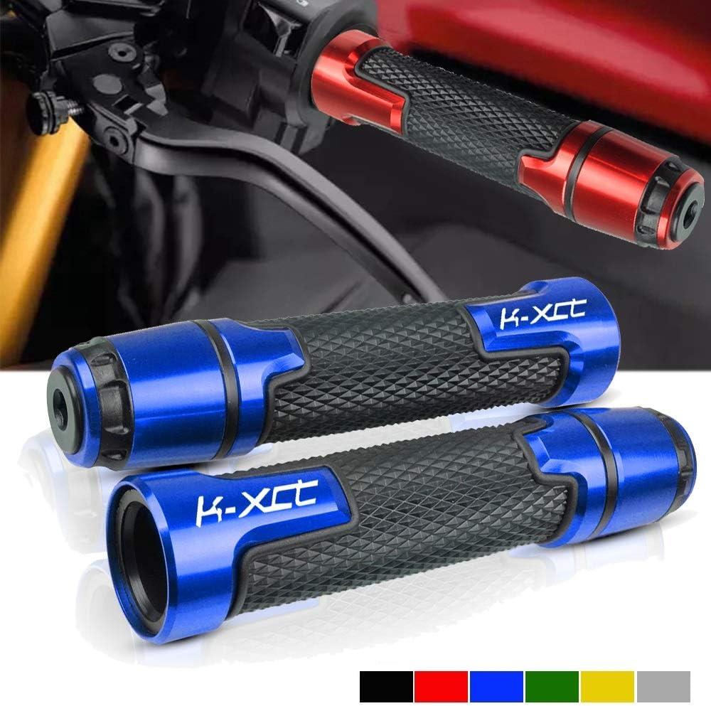 Color : Azul Pu/ño Agarres para KyMCO K-XCT KXCT 125 300 400 K-XCT125 K-XCT300 K-XCT40 Modercos De Motocicleta Anti-Skid Scooter Handle Hand Publics 7//822mm Bar Mano