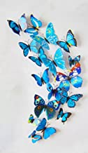 12pcs 6 big 6 small PVC 3d Butterfly Tatoos Wall Sticker Home Decoration Decals