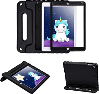 HDE Case for iPad 9.7-inch 2018 / 2017 Kids Shockproof Bumper Hard Cover Handle Stand with Built in Screen Protector for New Apple Education iPad 9.7 Inch (6th Gen) / 5th Generation iPad 9.7 - Black