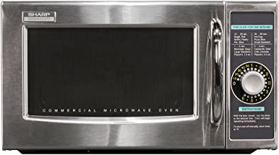 Sharp R-21LCFS Medium-Duty Commercial Microwave Oven with Dial Timer, Stainless Steel, 1000-Watts, 120-Volts