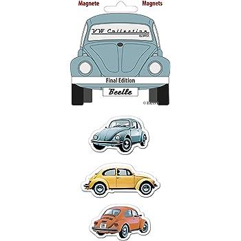 Brisa VW Collection Volkswagen Classic Beetle Car Bug Magnet 3-pc Set with nostalgic Design Final Edition