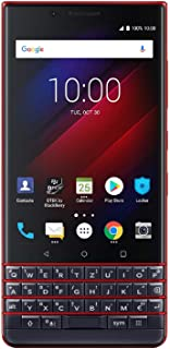 BlackBerry KEY2 LE (Lite) Dual-SIM (64GB, BBE100-4, QWERTZ Keypad, GSM Only, No CDMA) Factory Unlocked 4G Smartphone (Atomic Red) - International Version