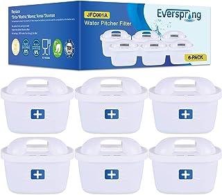 EVERSPRING Remplacement du Filtre à Eau pour Brita Maxtra, Mavea, Anna Duomax Paquet de 6 (6) Von