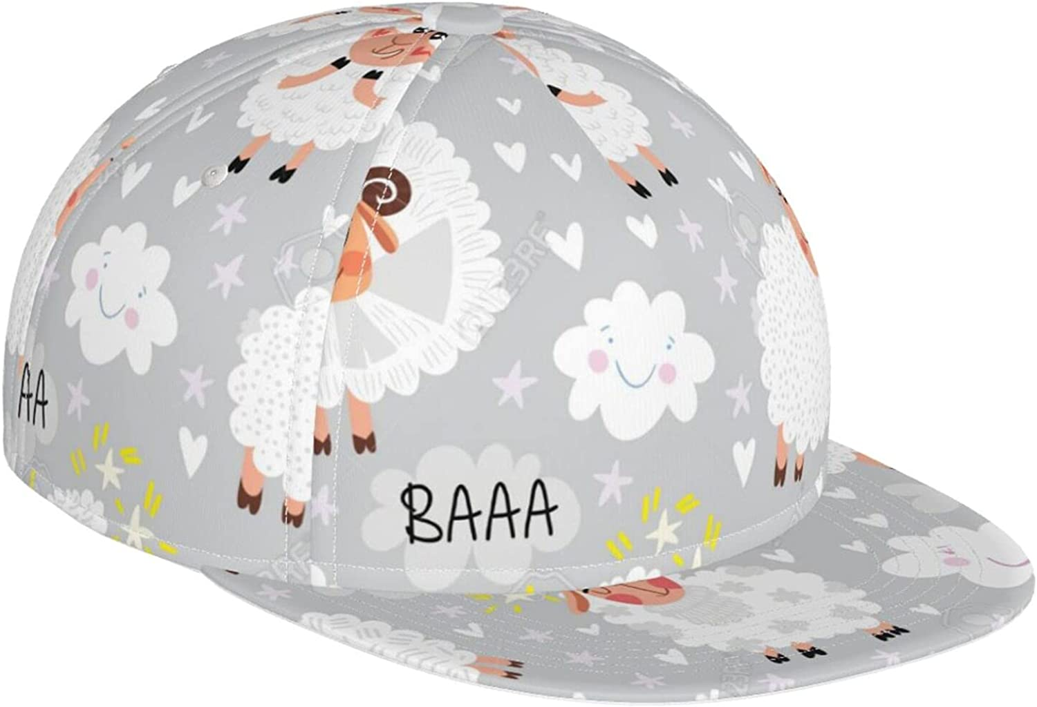 KINESONSS sale Fantasy Cute Sheep Clouds Stars Baseball and Cap Max 69% OFF Fashi