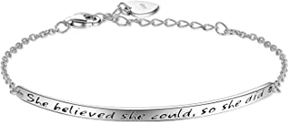 Best personalised silver friendship bracelet Reviews
