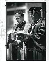 Vintage Photos 1989 Press Photo Cardinal Joseph Bernardin & Father Lavelle pres of JCU