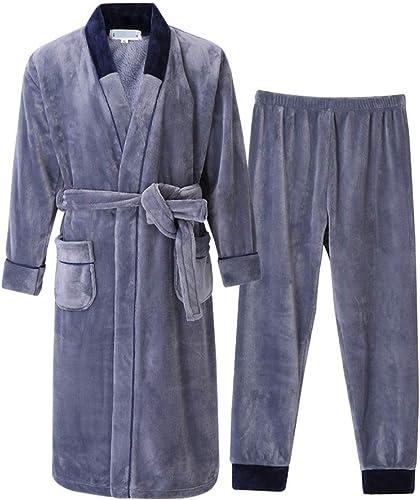 DSFGHE Pyjama Homme épais Peignoir Super Confort Nouvelle Robe De Mode,5-XL