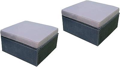 Amazon.com: Juego de 6 piezas de muebles de mimbre para ...