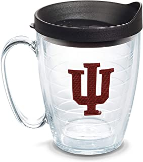 Tervis Indiana Hoosiers Logo Tumbler with Emblem and Black Lid 16oz Mug, Clear