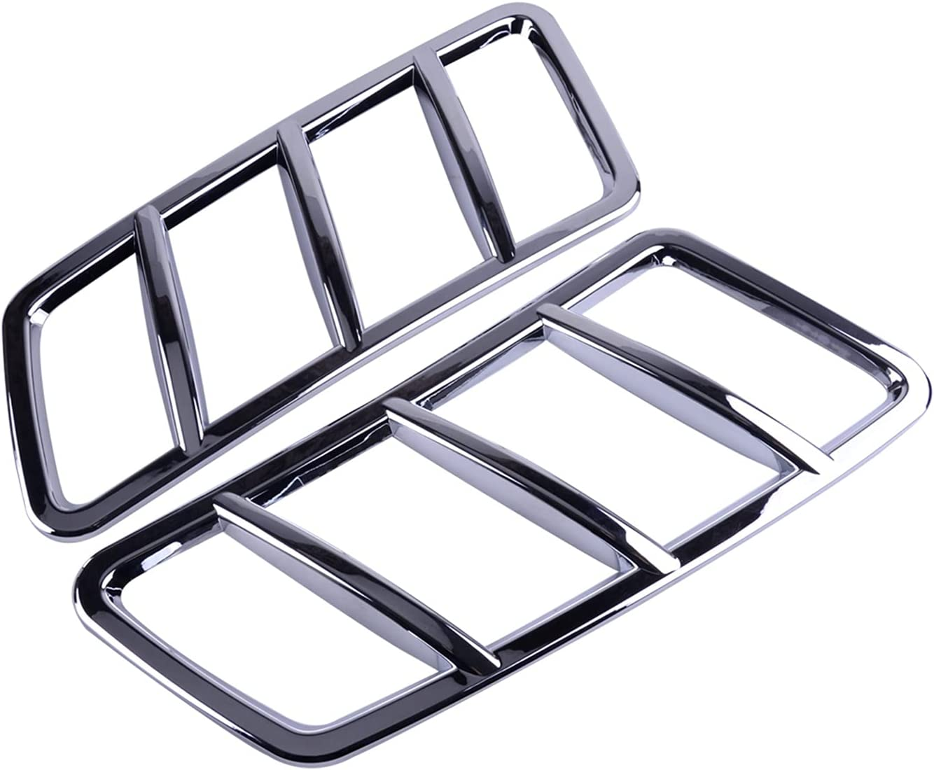 SHIWANGLIN 2Pcs Chrome Engine Hood Air Vent Max 55% OFF Cover Trim Fit Oklahoma City Mall f ABS