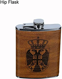 8oz Brown stainless steel hip flask, Cherry-Lee Proof portable bottle Stainless Steel Pocket Container for Drinking Liquor suitable For Whiskey, Rum, Scotch, Vodka