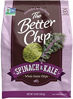 The Better Chip Whole Grain Chips, Spinach & Kale, 6.4 Ounce (Pack of 12)