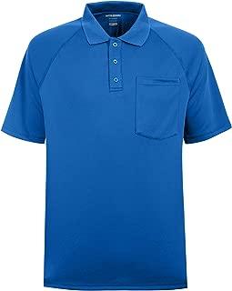 Men's Short Sleeve Moisture Wicking Performance Golf Polo Shirt, Side Blocked, Tall Sizes: M-7XL