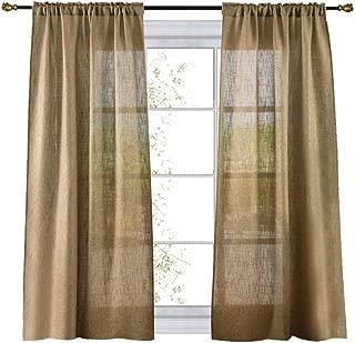 burlap tier curtains