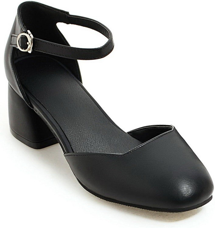 BalaMasa Womens Sandals Closed-Toe Cold Lining Urethane Sandals ASL04724