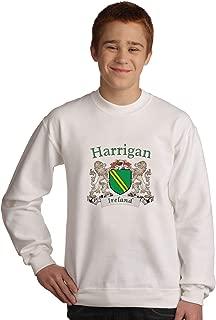 Harrigan Irish coat of arms Sweatshirt in White