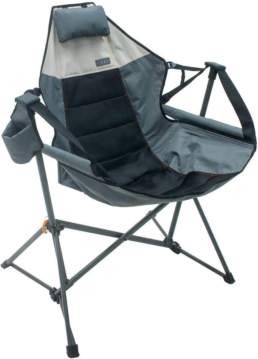 Rio Foldable Hammock Chair Lounger - Grey