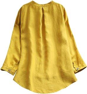 Mujer Blusa Camiseta Vestido Vintage Bohemian Traje de otoño Calle y Playa,Sonnena Vestido Vintage de la túnica Manga Larga de la Vendimia de Las Mujeres Vestido Largo Maxi Plus Talla