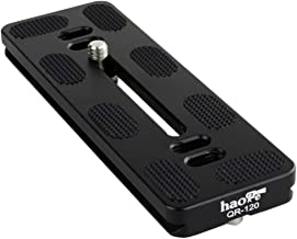 Haoge 120mm QR Quick Release Plate Dual Dovetail and D-Ring Screw Fits Arca-Swiss Standard for Tripod Ball Head