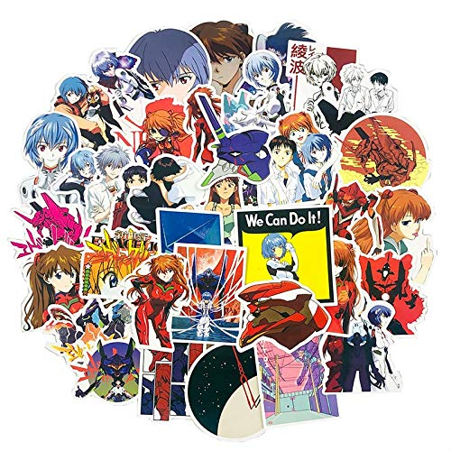 WYDML Classico Giapponese Anime Evangelion Sticker per Moto Frigorifero Computer Toy Trunk Skateboard Guitar Game Machine 50Pcs