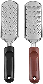 Solustre 2PCS Foot File Stainless Steel Foot Grinder Foot Rasp Foot Scrubber Callus Remover Dead Skin Rasp Removal Tool