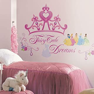 RoomMates Disney Princess and Princess Crown Peel and Stick Giant Wall Decals – RMK1580GM