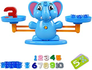 Binory Balance Cool Math Game for Girls & Boys,Fun Learn Balance Math Game Toys,Fun Math Early Counting Toy,Educational Children's Gift & Kids Toy,Puzzle Early Development Toys(Elephant)