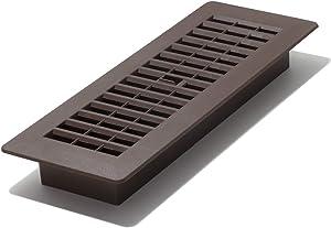 Decor Grates PL310-WB 3-Inch by 10-Inch Plastic Floor Register, Walnut Brown