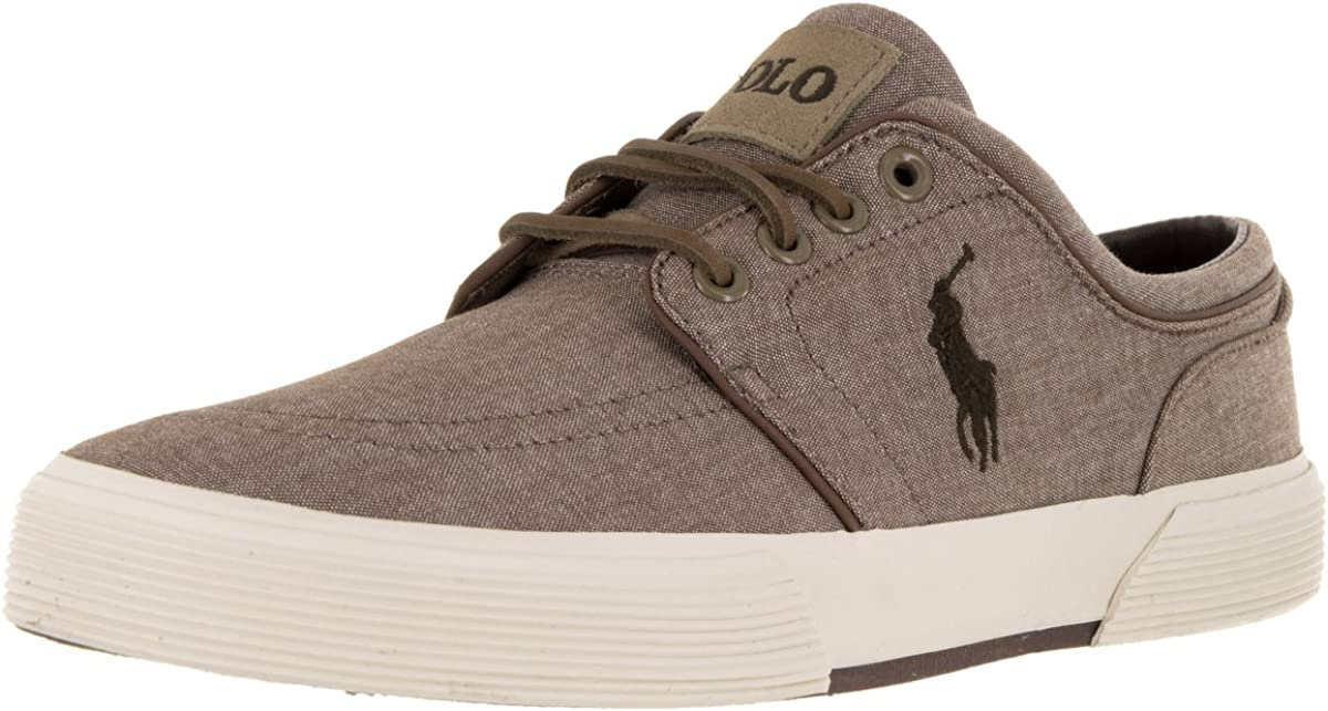 Polo Ralph Lauren Men's San Diego Mall Faxon Low 9.5 US Sneaker Tan Translated M